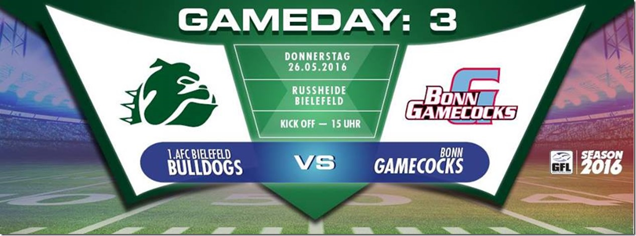 Bielefelder Bulldogs vs Bonn Gamecocks