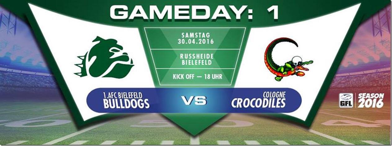 Bielefelder Bulldogs vs Cologne Crocodiles