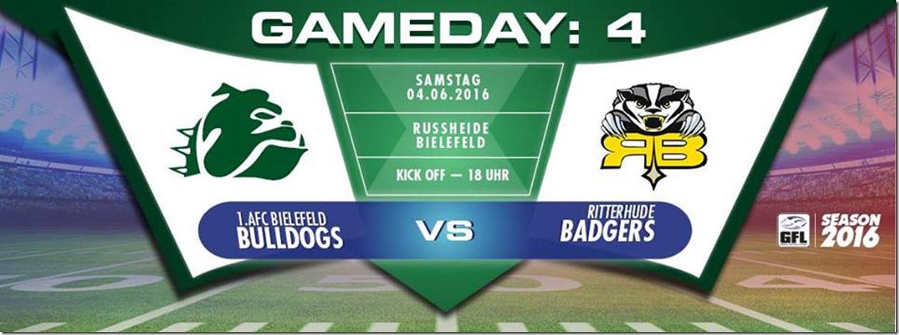 Bielefelder Bulldogs vs Ritterhude Badgers